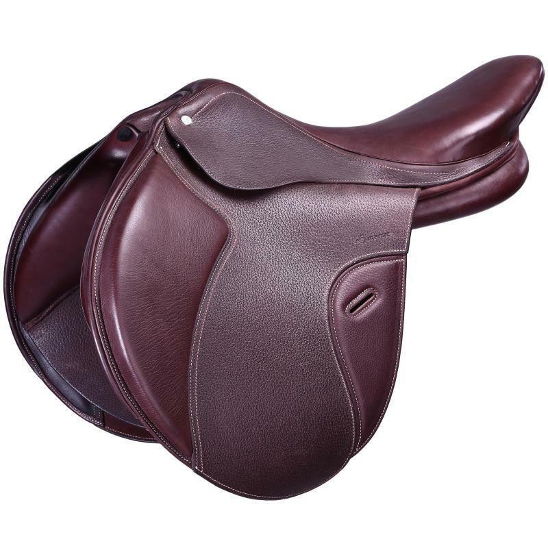 BEST Paddock Horse Riding All-Purpose 17.5' Adjustable Tree Leather Saddle