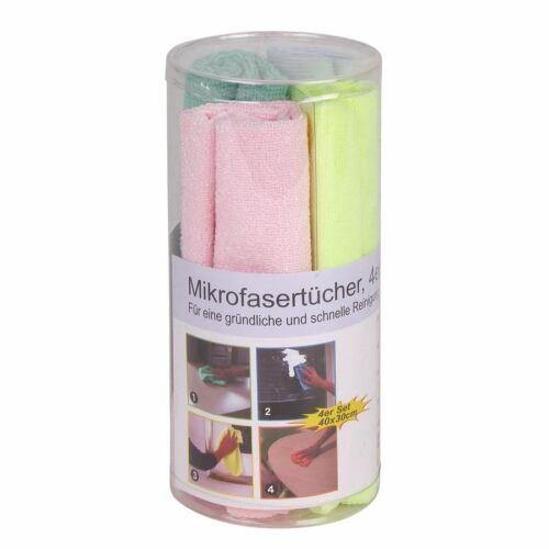 Mikrofasertücher 4er-Set Haushaltstücher Reinigungstuch Glastuch Poliertuch Tuch