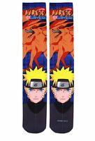 Naruto Shippuden Photo Real Printed Crew Cut Socks on Sale