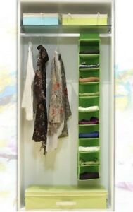 10 Racks Shelf Hanging Wardrobe Storage Organizer Cloth Multi Pcs Blanket Close%