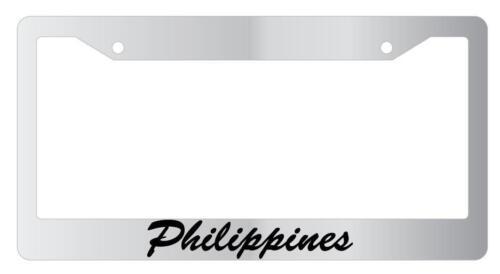 Phillipines Cursive Chrome License Plate Frame Auto Accessory
