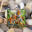 Charmant Tiger Family art cabochon verre Tibet Silver Tile Chaîne Collier Pendentif