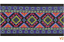1m bordato tessuti//webband aztekisch Ethno larga 50mm