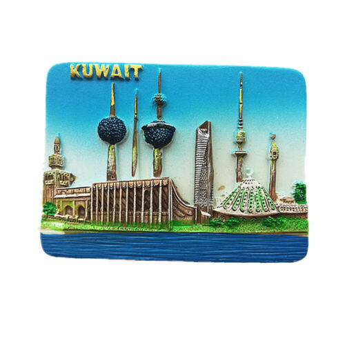 3D Kuwait Fridge Magnet Souvenir Gift Home & kitchen Decoration Magnetic sticker