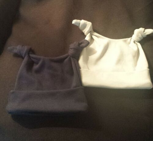 Made in the UK 2 knot Baby Hat 100/% Super Soft Cotton