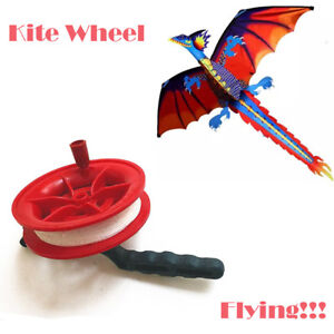 50M-Pratical-amp-Portable-Multicolor-Twisted-String-Line-Red-Wheel-Kite-Reel-Winder