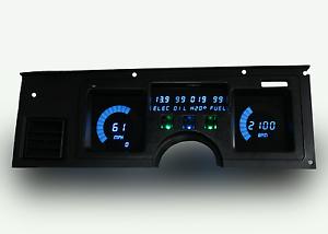 1984-1989 C4 Corvette Digital Dash Panel Blue LED Gauges Made In The USA