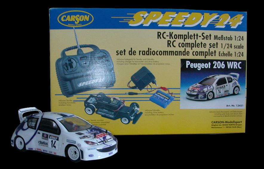 PEUGEOT 206 WRC 1 24 'SPEEDY 24' CARSON