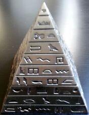 Egyptian Pyramid Hieroglyphics Alphabet Magnetic Bronze Jewelry Trinket Box