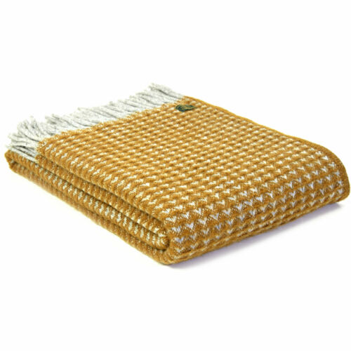 Tweedmill Textiles jette 100/% Laine Canapé Lit Couverture Beehive Illusion Fishbone