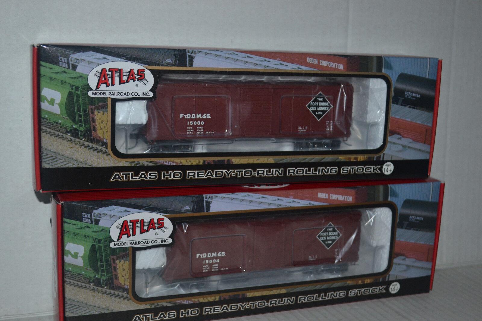 2 Atlas Fort Dodge, Des Moines & Southern Usra Caja Auto Escala Ho 6416-1,2