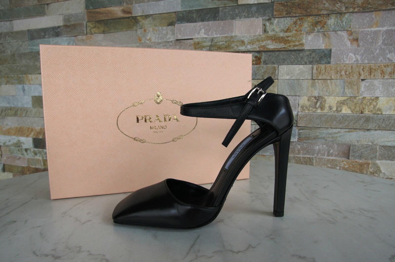 Prada Sling Pumps Sz. 40 Court shoes Slingbacks shoes Black New Previously