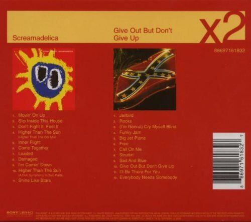 1 of 1 - PRIMAL SCREAM - SCREAMADELICA / GIVE OUT BUT DON'T GIVE UP: 2CD ALBUM SET