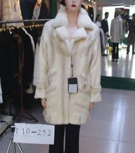 BRAND NEW  WHITE  MINK FUR COAT WOMEN 12 & UP