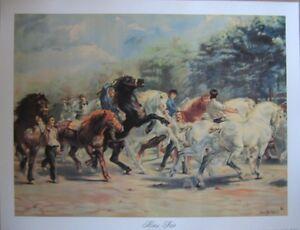 art-print-HORSE-FAIR-Rosa-Bonheur-show-race-farm-horses-riders-men-22x17