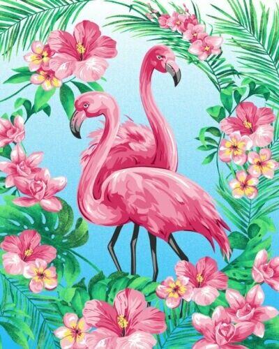 """36/"""" Pannello-Fabric Traditions creazione Stazione TROPICALE rosa fenicottero Scena"""