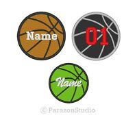All Sizes - Custom Embroidered Basketball Ball Sport Team Sew On Round Patch