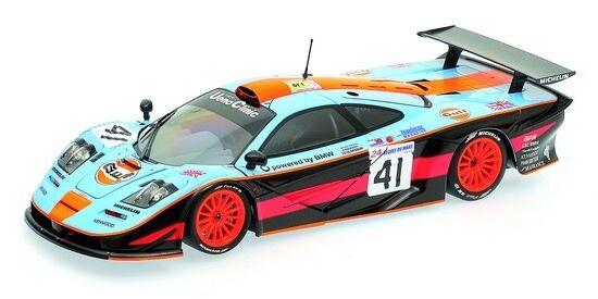 Minichamps 530133741 McLaren f1 GTR 24h Le Mans 1997 Gulf Team 1 18 NUOVO OVP