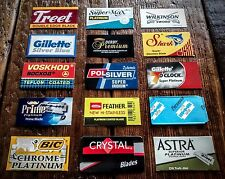 Premium Double Edge DE Razor Blade Sampler Pack - Sample 15 Brands - *US Seller*