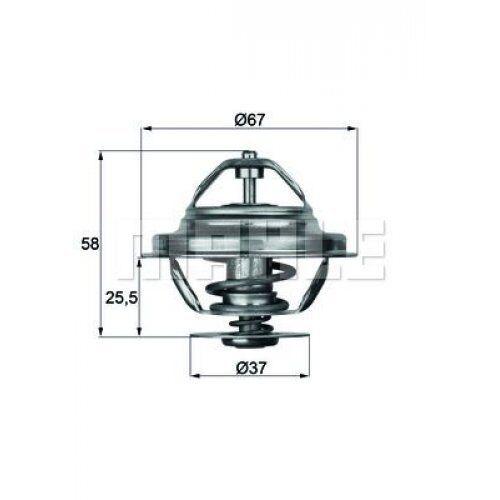 MAHLE ORIGINAL Thermostat, coolant TX 20 80D