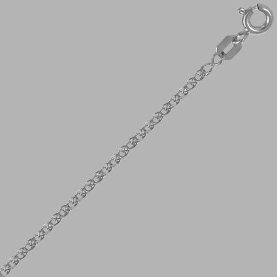 """12"""" A Complete Range Of Specifications Sizes 7"""" 1.8mm New 14k White Gold Open Wheat Anklet 1mm"""
