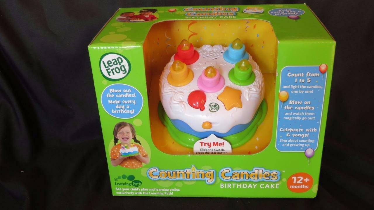 NEW Leap Frog Counting Candles Birthday Cake Educational Musical Spielzeug Leapfrog