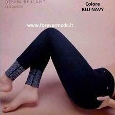 Vintage Leggings Donna Matignon mit Grund Bestickt San Gallo Taschen hinter