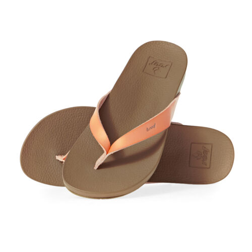 Reef Cushion Bounce Court Womens Footwear Flip Flops Cantaloupe All Sizes