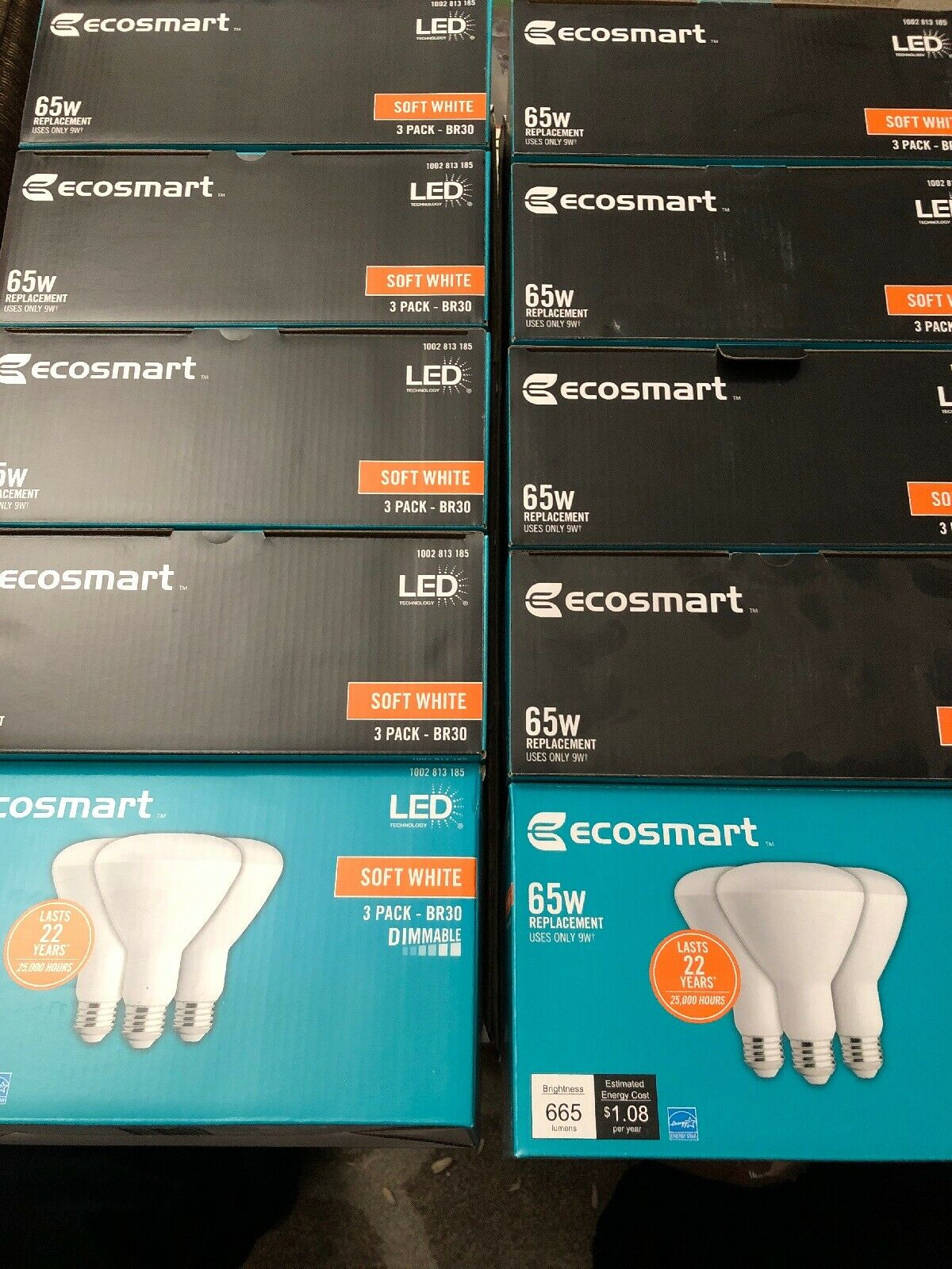 10 X (3-Pack) Ecosmart 65W Equivalent SOFT Weiß BR30 Dimmable LED Light Bulb