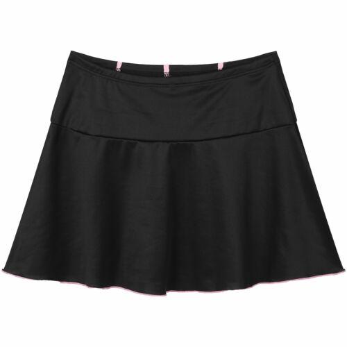 Women Girl High Waist Belted Chain Zipper Punk Uniform A-line Pleated Mini Skirt