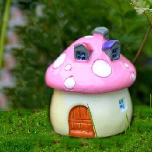 3 Größe Pilz Miniatur Garten Ornament DIY Handwerk Pot Fairy Dollhouse Deco  bx