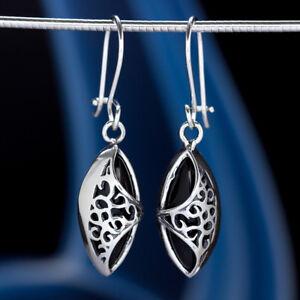 Onyx-Silber-925-Ohrringe-Damen-Schmuck-Sterlingsilber-H0507