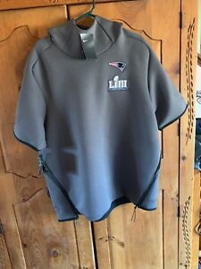 8c9a9779 Details about New England Patriots Media Day Super Bowl LIII 53 Short  Sleeve Hoodie Large