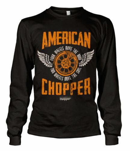 Licence Officielle American Chopper-deux roues T-shirt à manches longues S-XXL tailles