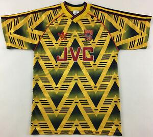 Arsenal London 1991-93 away JVC shirt jersey Adidas bruised banana vintage 32-34