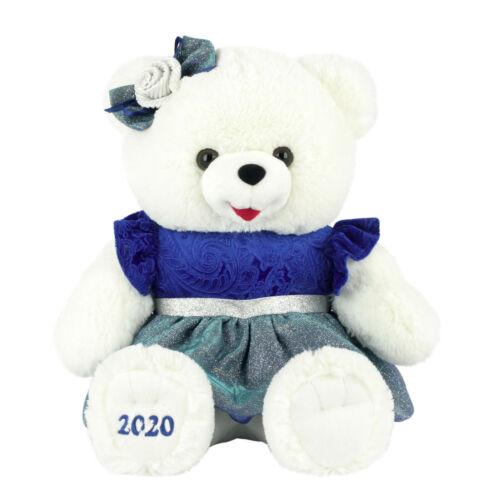 "2020 WalMART CHRISTMAS Snowflake TEDDY BEAR White girl 20/"" blue Outfit Brand NWT"