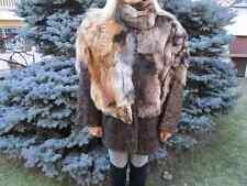 GIACCA-COAT pelle e pelliccia con VOLPE-FOX rossa tg.44
