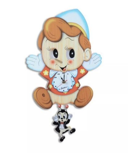 Cute Baby Room Decor Bartolucci Wooden Clocks With Different Styles Moving Eyes