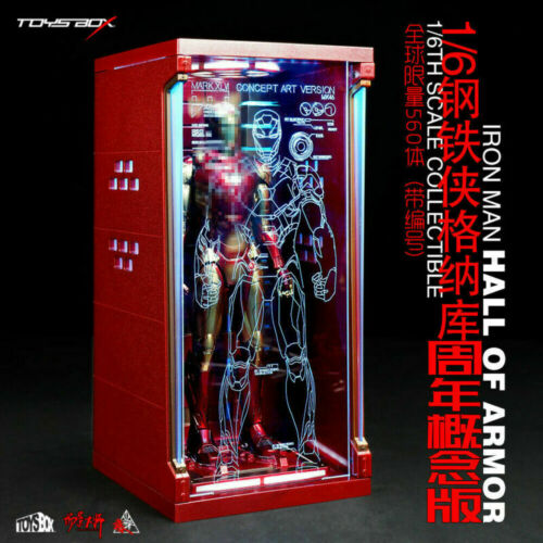 Toysbox 1//6 Hall of Armor Iron Man Dust Box TB073GN Display Case Limit Model