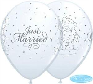 """25 Decorazione Matrimonio Bianco ME TO YOU TATTY TED appena sposato 11"""" Palloncini in Lattice  </span>"""