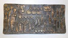 E. Burgel German Bronze Relief Plaque, Röperwerk, signiert, Kunst 1966.