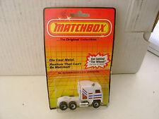 1983 MATCHBOX SUPERFAST #45 WHITE KENWORTH COE AERODYNE NEW MOC