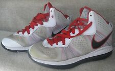 2010 Nike Air Max LeBron James VIII 8 V2 Size 9.5 429676- 100 - White/Black/Red