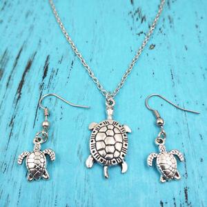 Sea turtle necklace earring pendants jewelrycharm silver handmade image is loading sea turtle necklace earring pendants jewelry charm silver aloadofball Gallery