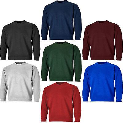 Dickies Crew Neck Sweatshirt Jumper Black Men/'s Work Sizes S-XXXXL