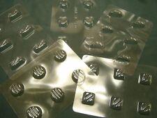 5 fogli di cioccolato STAMPI / stampi per dolci casalinghi-rotonde / quadrate / cuore etc