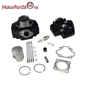 Details about FOR Cylinder Barrel Kit Yamaha PW50 60cc Big Bore Head Piston  PY QT PW 50 60 cc