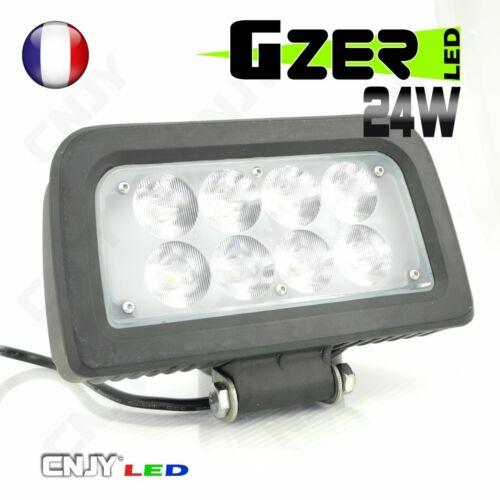 PHARE DE TRAVAIL PROJECTEUR LED GZER 24W 12-24V POUR TRACTEUR AGRICOLE FENDT