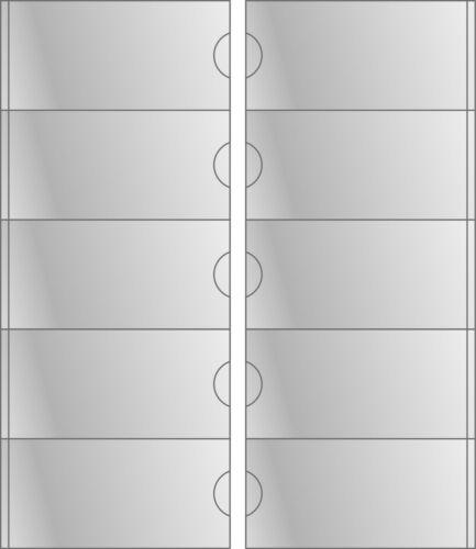 Selbstklebetasche 55 x 115 mm für Ordner selbstklebend Klarsichttasche Rückensch