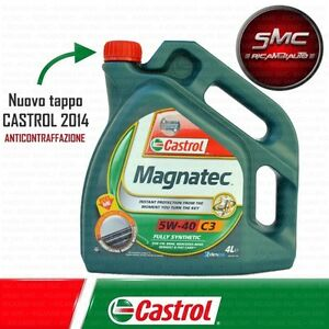Olio-CASTROL-MAGNATEC-5W40-C3-Motore-SINTETICO-AUTO-DIESEL-BENZINA-4-LT-Litri